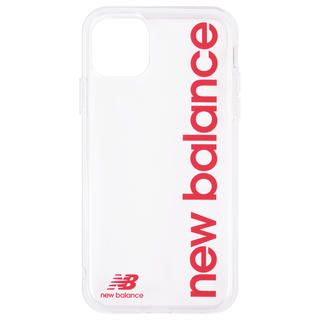 iPhone 11 ケース New Balance TPUクリアケース 縦ロゴ/レッド iPhone 11