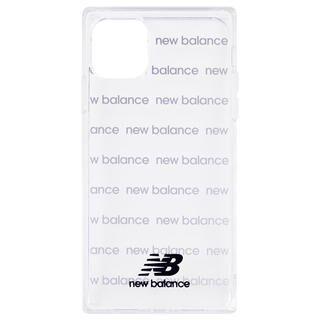 iPhone 11 Pro ケース New Balance スクエア型TPUクリアケース ロゴボーダー/ブラック iPhone 11 Pro