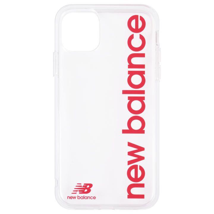 iPhone 11 ケース New Balance TPUクリアケース 縦ロゴ/レッド iPhone 11_0