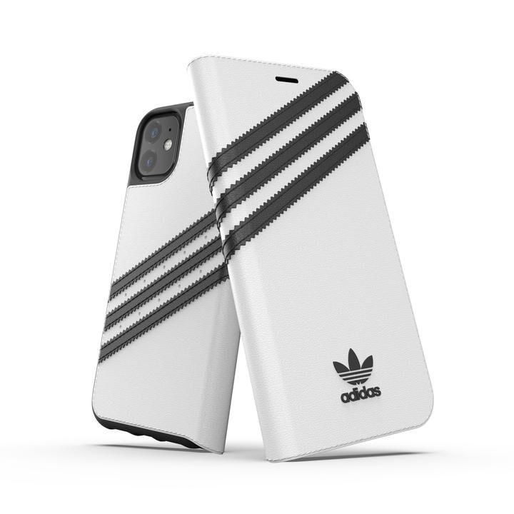 iPhone 11 ケース adidas Originals Booklet Case SAMBA FW19 iPhone 11 White/Back_0