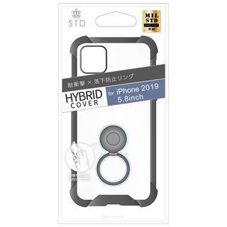 iPhone 11 Pro ケース STD 落下防止リング付属ハイブリットケース ブラック iPhone 11 Pro