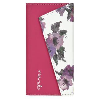 iPhone 11 Pro ケース rienda ロングストラップ・小銭付き3つ折り手帳 Parm Flower/ピンク iPhone 11 Pro