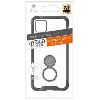 iPhone 11 ケース STD 落下防止リング付属ハイブリットケース ブラック iPhone 11