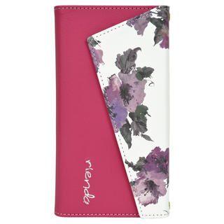 iPhone 11 ケース rienda ロングストラップ・小銭付き3つ折り手帳 Parm Flower/ピンク iPhone 11