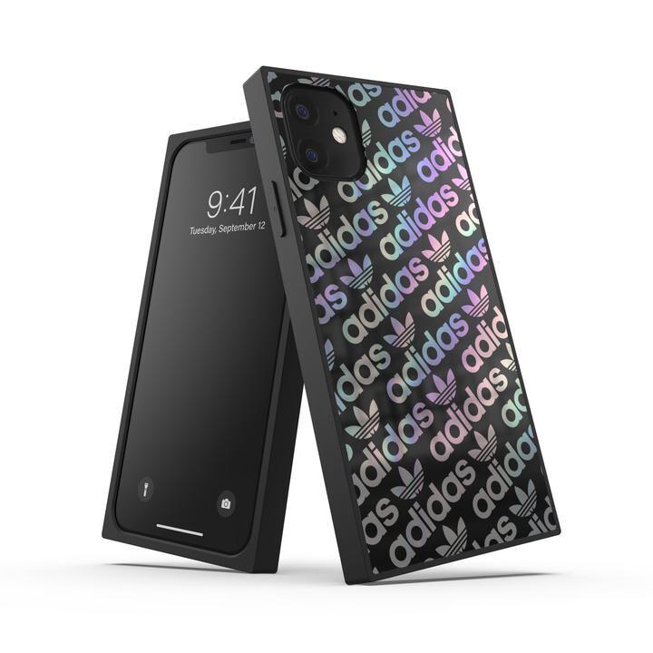 iPhone 11 ケース adidas Originals SQUARE CASE FW19 iPhone 11 Black/Holographic_0