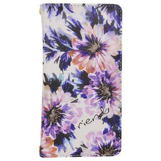 iPhone 11 ケース rienda プリント手帳 Lumiere Flower/ピンク iPhone 11