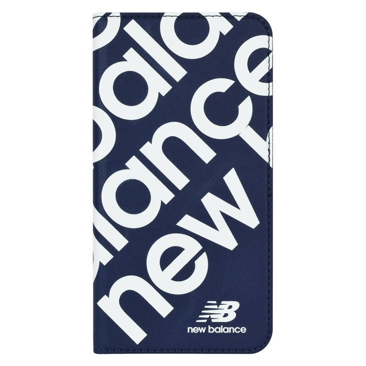 iPhone 11 ケース New Balance スリム手帳ケース スタンプロゴ スタンプロゴ/ネイビー iPhone 11_0