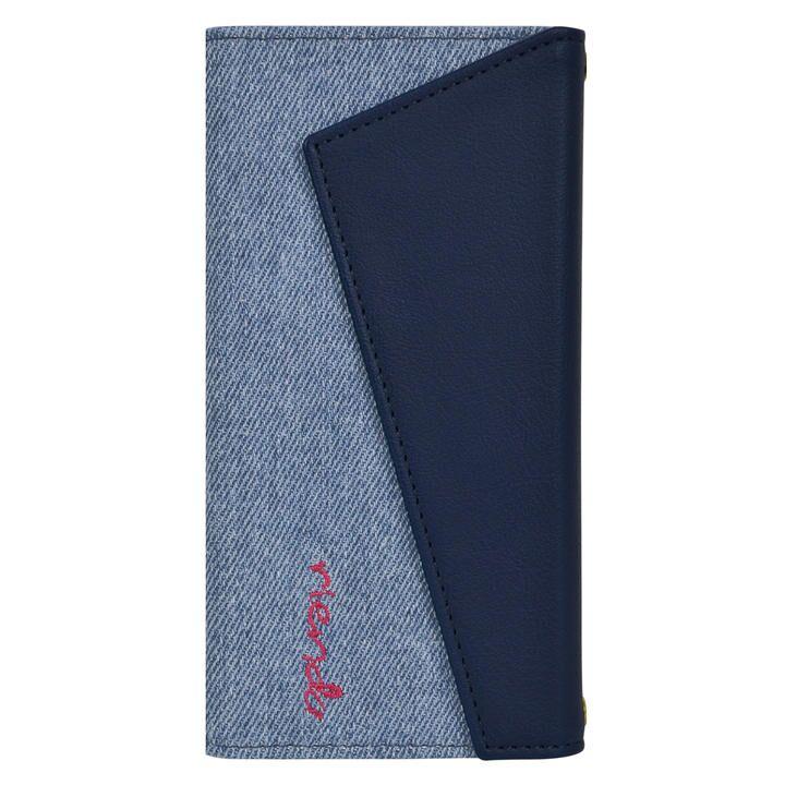 iPhone 11 Pro ケース rienda ロングストラップ・小銭付き3つ折り手帳 デニム&ネイビー iPhone 11 Pro_0