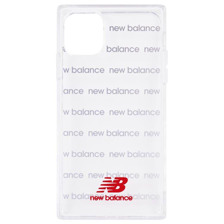 iPhone 11 ケース New Balance スクエア型TPUクリアケース ロゴボーダー/レッド iPhone 11_0