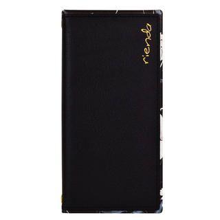 iPhone 11 Pro ケース rienda スクエア手帳 Grace Flower/ブラック iPhone 11 Pro