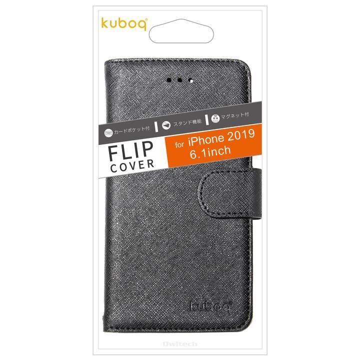 iPhone 11 ケース Kuboq カード収納ポケット付き手帳型ケース ブラック iPhone 11_0