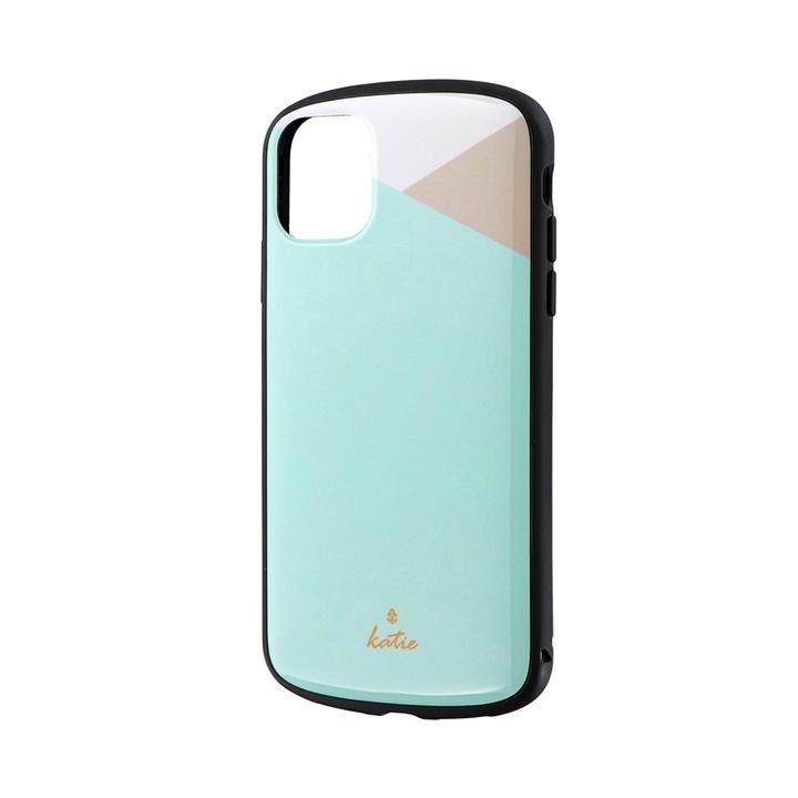 iPhone 11 ケース 超軽量・極薄・耐衝撃ハイブリッドケース「PALLET Katie」 パステルミント iPhone 11_0