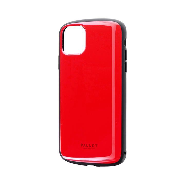 iPhone 11 Pro Max ケース 超軽量・極薄・耐衝撃ハイブリッドケース「PALLET AIR」 レッド iPhone 11 Pro Max_0