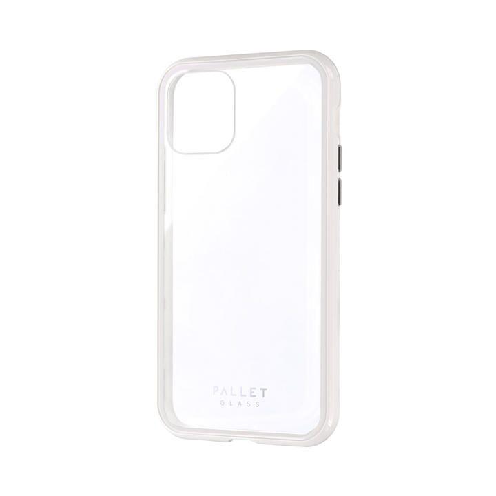 ガラスハイブリッドケース「SHELL GLASS COLOR」 クリアホワイト iPhone 11 Pro【9月中旬】_0