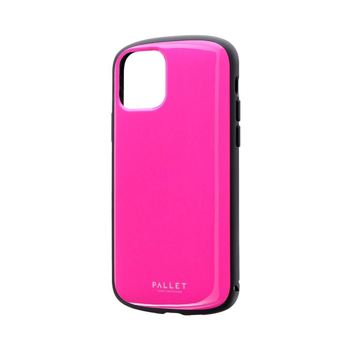 超軽量・極薄・耐衝撃ハイブリッドケース「PALLET AIR」 ホットピンク iPhone 11 Pro【9月中旬】_0