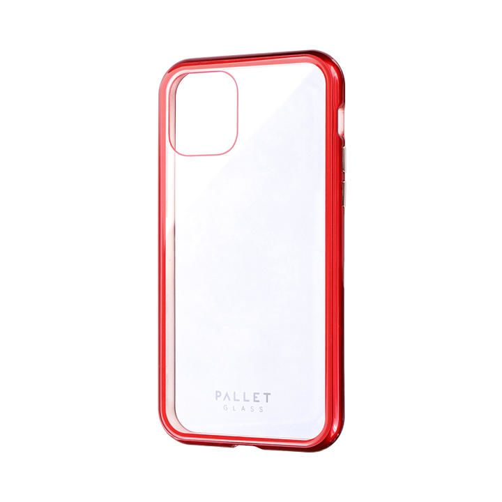 iPhone 11 Pro ケース ガラスハイブリッドケース「SHELL GLASS COLOR」 クリアレッド iPhone 11 Pro_0