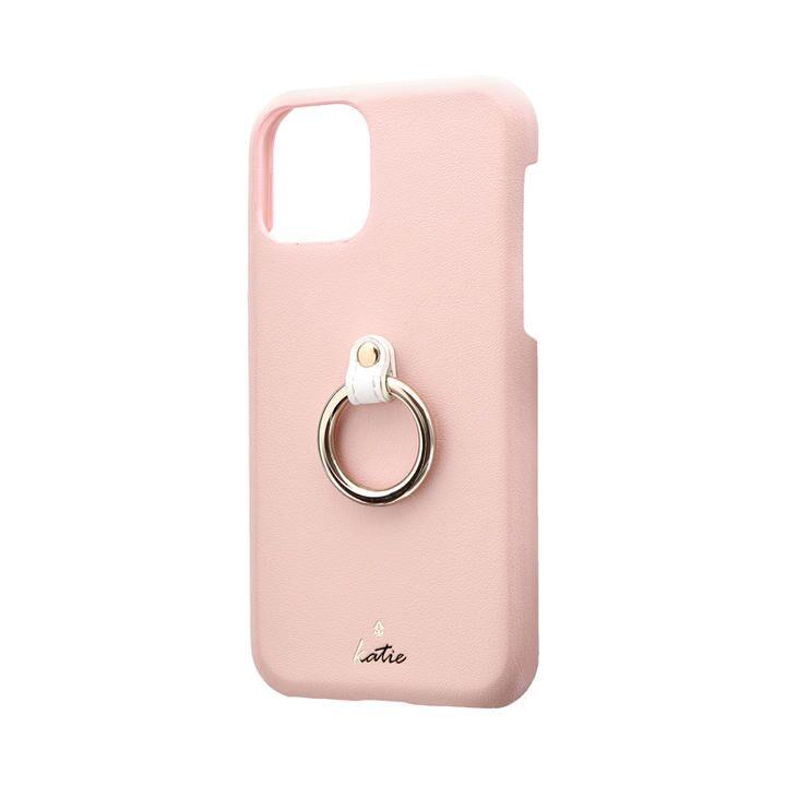 リング付PUレザーシェルケース「SHELL RING Katie」 ピンク iPhone 11 Pro【9月中旬】_0
