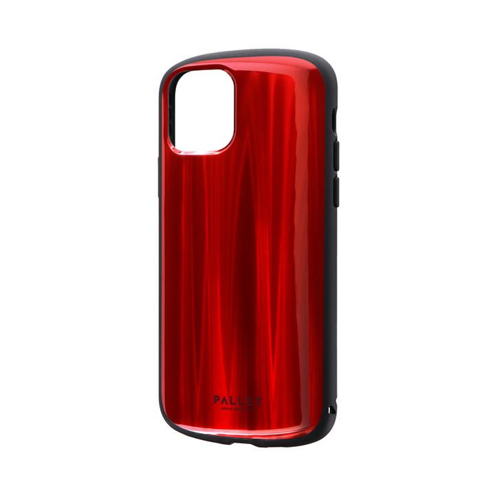 iPhone 11 Pro ケース 超軽量・極薄・耐衝撃ハイブリッドケース「PALLET METAL」 レッド iPhone 11 Pro_0