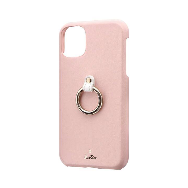 リング付PUレザーシェルケース「SHELL RING Katie」 ピンク iPhone 11_0
