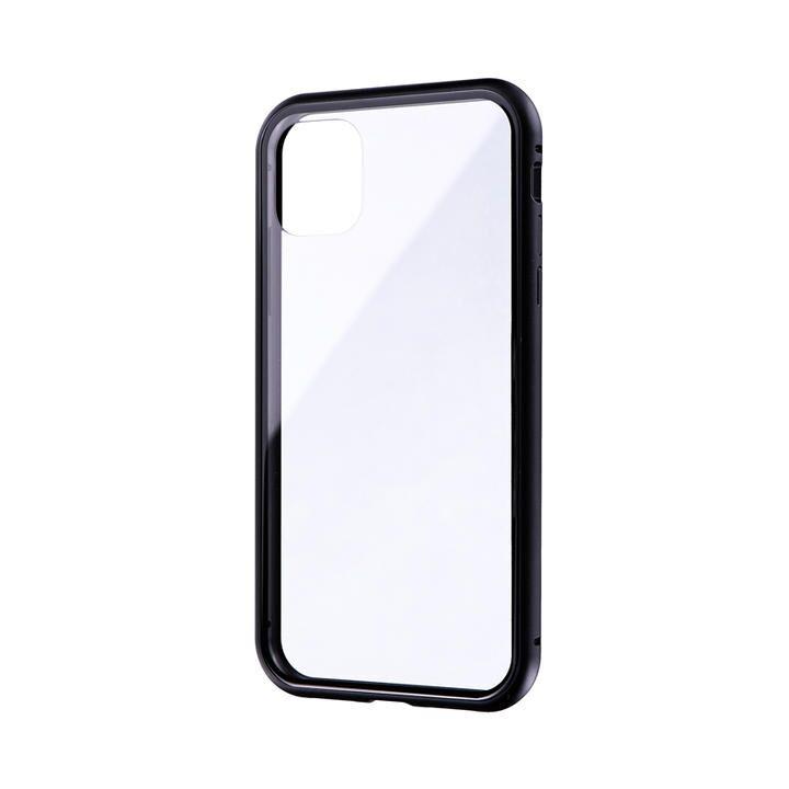 ガラス&アルミケース「SHELL GLASS Aluminum」 ブラック iPhone 11_0