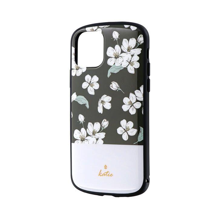 超軽量・極薄・耐衝撃ハイブリッドケース「PALLET Katie」 フラワーブラック iPhone 11 Pro【9月中旬】_0