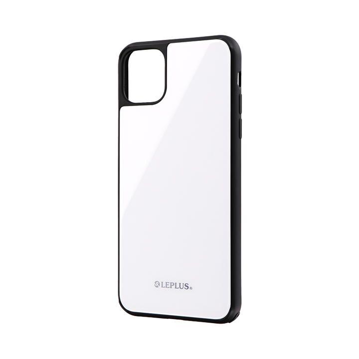 背面ガラスシェルケース「SHELL GLASS」 ホワイト iPhone 11 Pro Max【9月中旬】_0