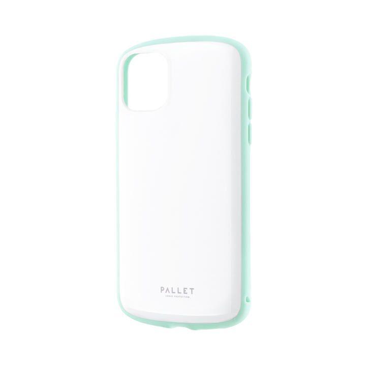 超軽量・極薄・耐衝撃ハイブリッドケース「PALLET AIR」 ホワイトミント iPhone 11_0