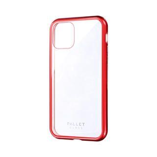 iPhone 11 Pro ケース ガラスハイブリッドケース「SHELL GLASS COLOR」 クリアレッド iPhone 11 Pro【9月中旬】