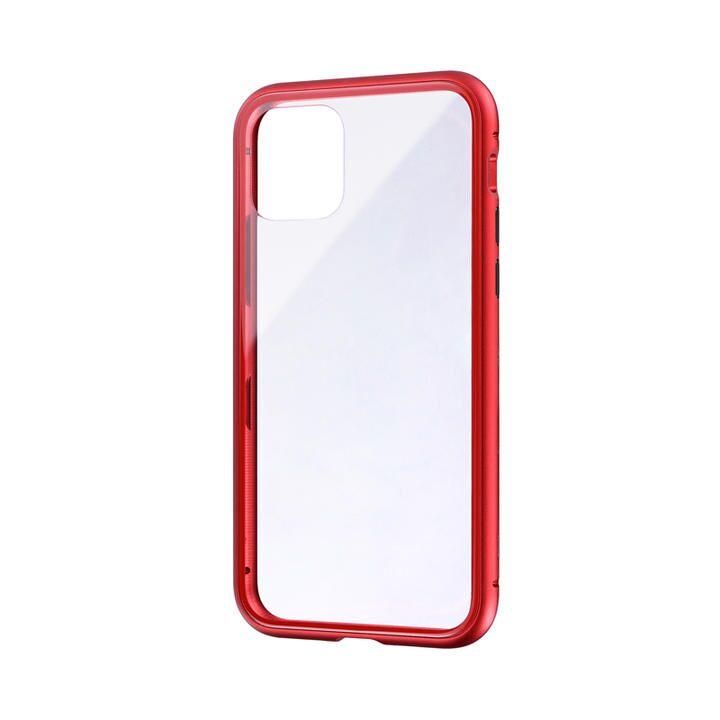 iPhone 11 Pro ケース ガラス&アルミケース「SHELL GLASS Aluminum」 レッド iPhone 11 Pro_0