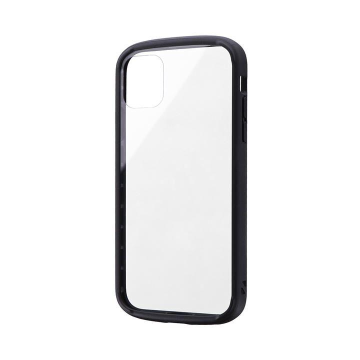 耐衝撃ガラスハイブリッドケース「PALLET GLASS」 ブラック iPhone 11【9月中旬】_0