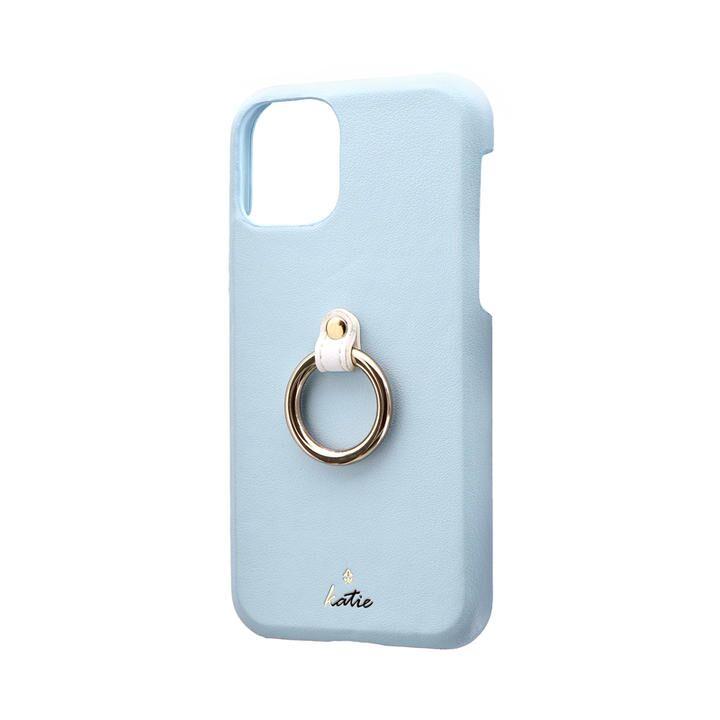 リング付PUレザーシェルケース「SHELL RING Katie」 ブルー iPhone 11 Pro【9月中旬】_0