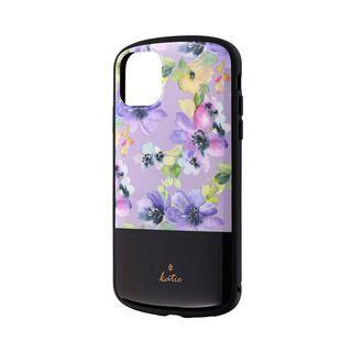 iPhone 11 ケース 超軽量・極薄・耐衝撃ハイブリッドケース「PALLET Katie」 フラワーパープル iPhone 11