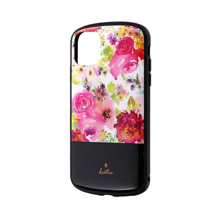 超軽量・極薄・耐衝撃ハイブリッドケース「PALLET Katie」 フラワーピンク iPhone 11_0