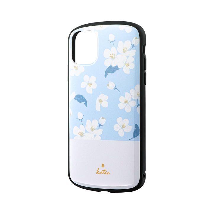 超軽量・極薄・耐衝撃ハイブリッドケース「PALLET Katie」 フラワーサックス iPhone 11【9月中旬】_0
