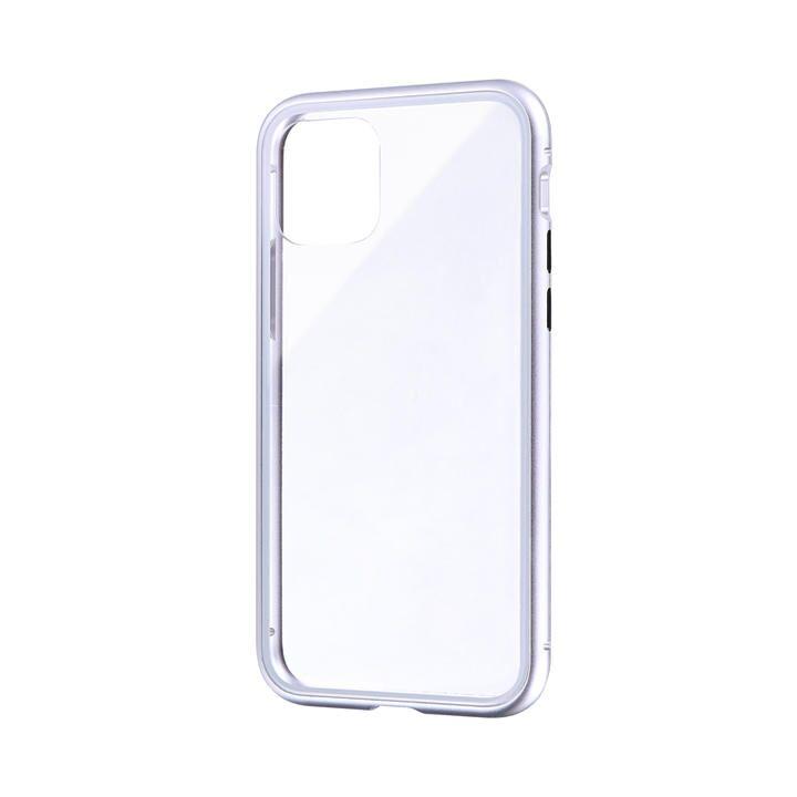iPhone 11 Pro ケース ガラス&アルミケース「SHELL GLASS Aluminum」 シルバー iPhone 11 Pro_0