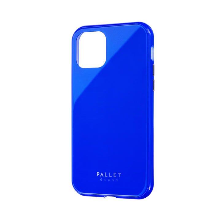 ガラスハイブリッドケース「SHELL GLASS COLOR」 ブルー iPhone 11 Pro【9月中旬】_0
