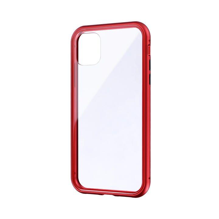 ガラス&アルミケース「SHELL GLASS Aluminum」 レッド iPhone 11【9月中旬】_0