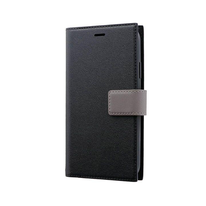 iPhone 11 ケース 薄型PUレザーフラップケース「PRIME HOOK」 ブラック iPhone 11_0