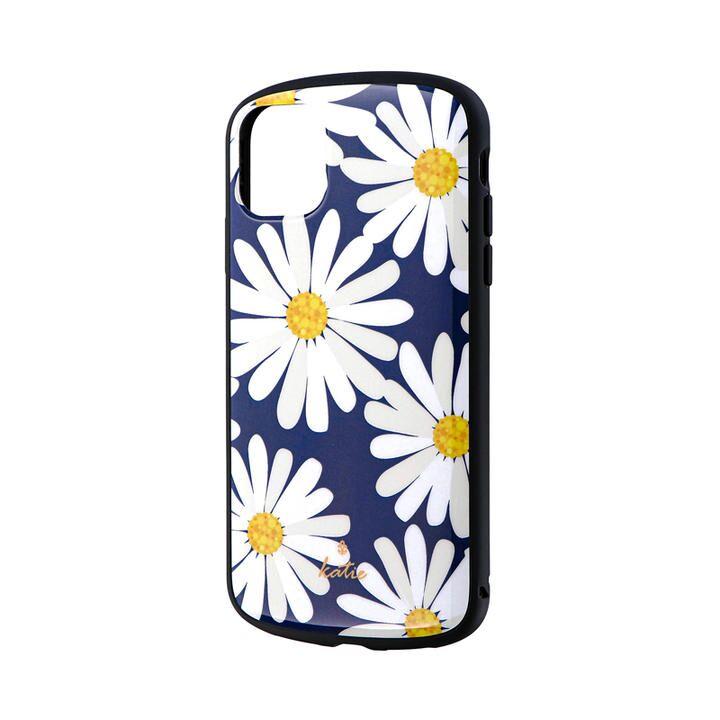 iPhone 11 ケース 超軽量・極薄・耐衝撃ハイブリッドケース「PALLET Katie」 マーガレットネイビー iPhone 11_0
