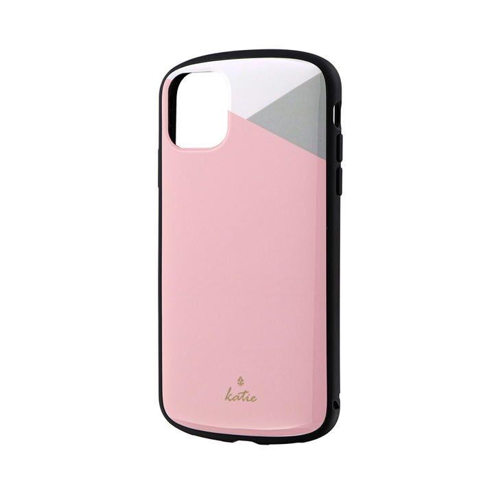 iPhone 11 ケース 超軽量・極薄・耐衝撃ハイブリッドケース「PALLET Katie」 パステルピンク iPhone 11_0