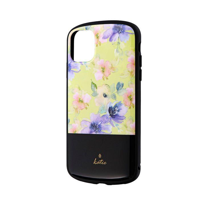 iPhone 11 ケース 超軽量・極薄・耐衝撃ハイブリッドケース「PALLET Katie」 フラワーイエロー iPhone 11_0