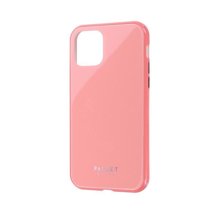 ガラスハイブリッドケース「SHELL GLASS COLOR」 ピンク iPhone 11 Pro【9月中旬】_0