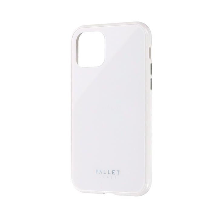ガラスハイブリッドケース「SHELL GLASS COLOR」 ホワイト iPhone 11 Pro【9月中旬】_0