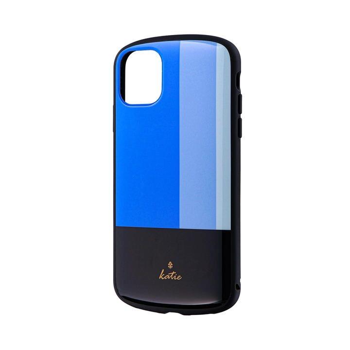 iPhone 11 ケース 超軽量・極薄・耐衝撃ハイブリッドケース「PALLET Katie」 トリコロールブルー iPhone 11_0