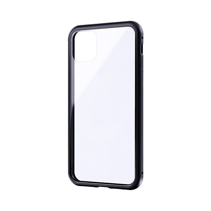 iPhone 11 Pro Max ケース ガラス&アルミケース「SHELL GLASS Aluminum」 ブラック iPhone 11 Pro Max_0