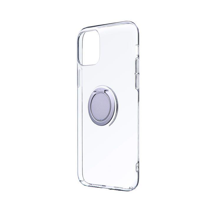 極薄リング付ハードケース「CLEAR RING」 シルバー iPhone 11 Pro【9月中旬】_0