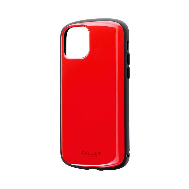 超軽量・極薄・耐衝撃ハイブリッドケース「PALLET AIR」 レッド iPhone 11 Pro【9月中旬】_0