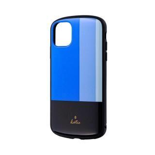 iPhone 11 ケース 超軽量・極薄・耐衝撃ハイブリッドケース「PALLET Katie」 トリコロールブルー iPhone 11