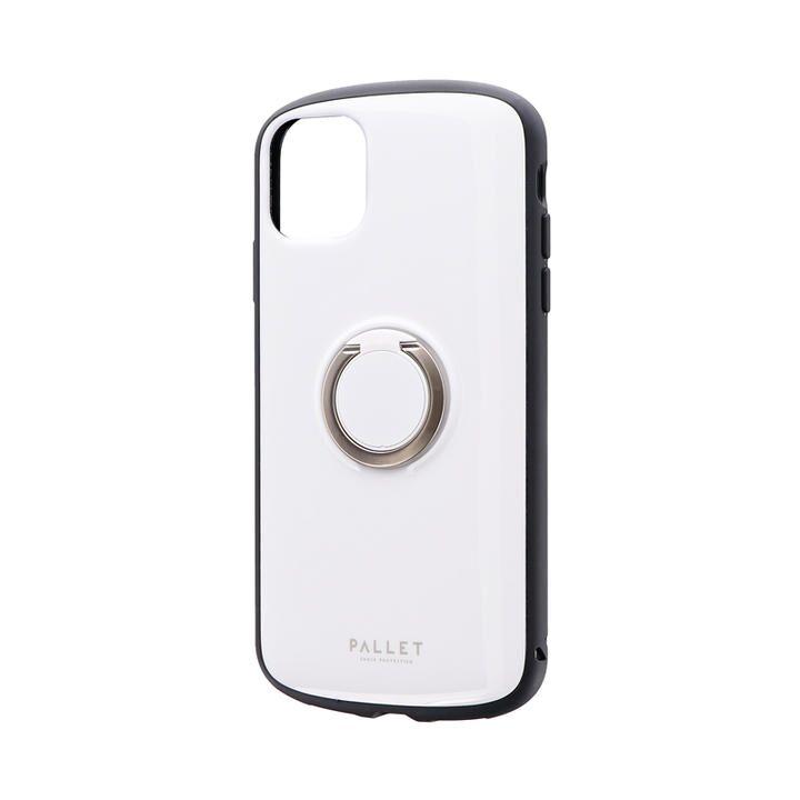 耐衝撃リング付ハイブリッドケース「PALLET RING」 ホワイト iPhone 11【9月中旬】_0