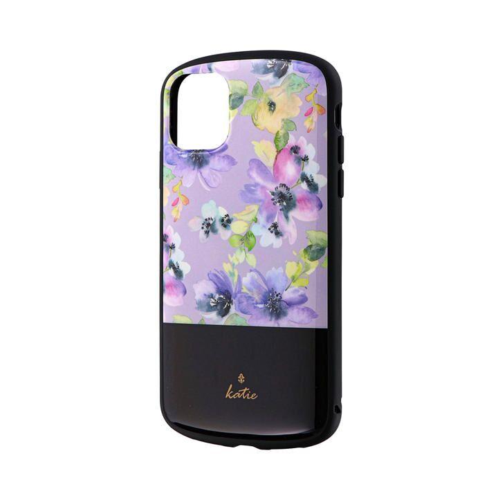 iPhone 11 ケース 超軽量・極薄・耐衝撃ハイブリッドケース「PALLET Katie」 フラワーパープル iPhone 11_0